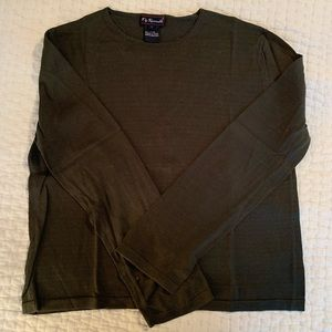 Faconnable Olive Green T-Shirt/Sweater L